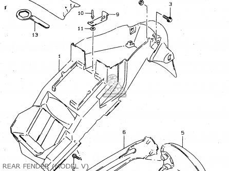 Suzuki Tl1000s 1997 v e02 E04 E18 E22 E24 E25 E34 E39   P37 Rear Fender model V