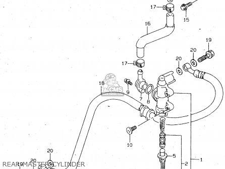 Suzuki Tl1000s 1997 v e02 E04 E18 E22 E24 E25 E34 E39   P37 Rear Master Cylinder