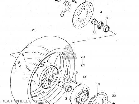 Suzuki Tl1000s 1997 v e02 E04 E18 E22 E24 E25 E34 E39   P37 Rear Wheel