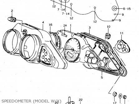 Suzuki Tl1000s 1997 v e02 E04 E18 E22 E24 E25 E34 E39   P37 Speedometer model W x