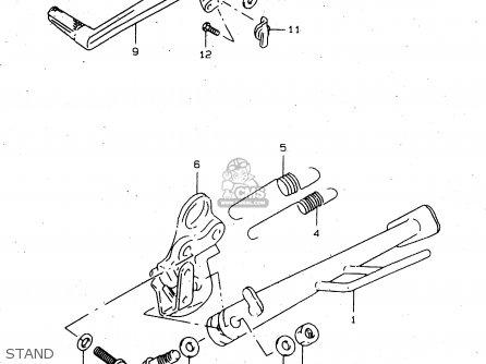 Suzuki Tl1000s 1997 v e02 E04 E18 E22 E24 E25 E34 E39   P37 Stand