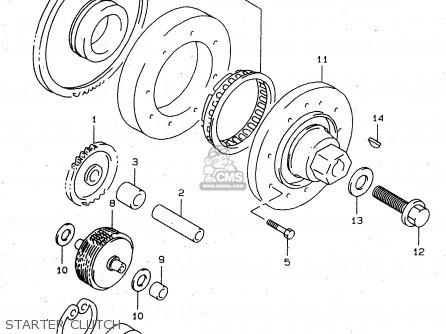 Suzuki Tl1000s 1997 v e02 E04 E18 E22 E24 E25 E34 E39   P37 Starter Clutch