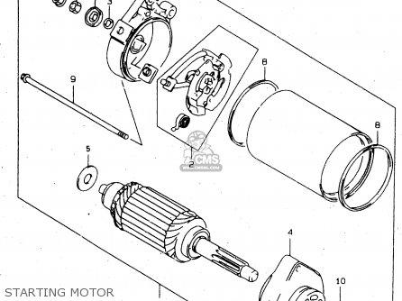 Suzuki Tl1000s 1997 v e02 E04 E18 E22 E24 E25 E34 E39   P37 Starting Motor