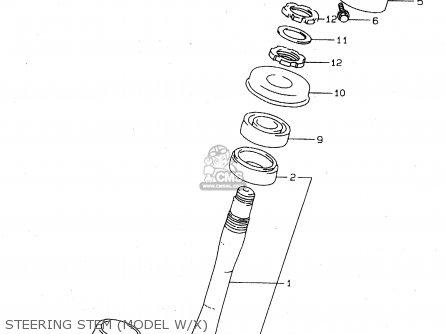 Suzuki Tl1000s 1997 v e02 E04 E18 E22 E24 E25 E34 E39   P37 Steering Stem model W x