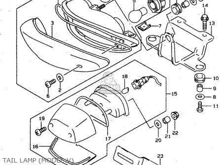 Suzuki Tl1000s 1997 v e02 E04 E18 E22 E24 E25 E34 E39   P37 Tail Lamp model V