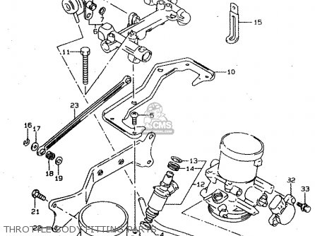 Suzuki Tl1000s 1997 v e02 E04 E18 E22 E24 E25 E34 E39   P37 Throttle Body Fitting Parts