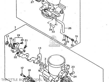 Suzuki Tl1000s 1997 v e02 E04 E18 E22 E24 E25 E34 E39   P37 Throttle Body model V