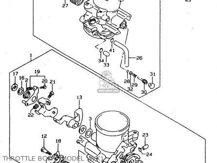 Suzuki Tl1000s 1997 v e02 E04 E18 E22 E24 E25 E34 E39   P37 Throttle Body model W x