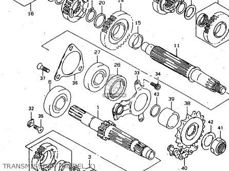 Suzuki Tl1000s 1997 v e02 E04 E18 E22 E24 E25 E34 E39   P37 Transmission model X