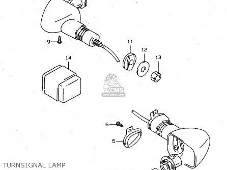Suzuki Tl1000s 1997 v e02 E04 E18 E22 E24 E25 E34 E39   P37 Turnsignal Lamp