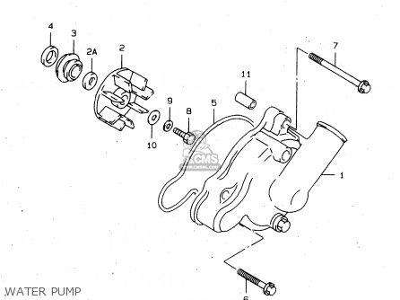 Suzuki Tl1000s 1997 v e02 E04 E18 E22 E24 E25 E34 E39   P37 Water Pump