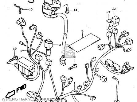 Suzuki Tl1000s 1997 v e02 E04 E18 E22 E24 E25 E34 E39   P37 Wiring Harness model V
