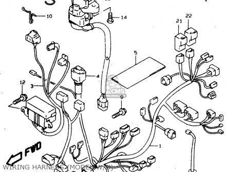 Suzuki Tl1000s 1997 v e02 E04 E18 E22 E24 E25 E34 E39   P37 Wiring Harness model W x