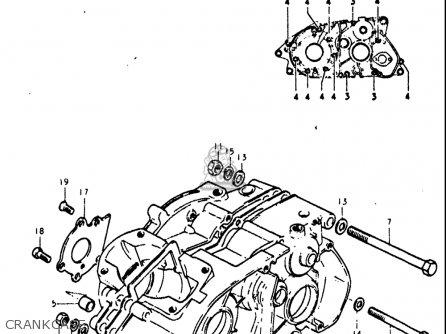 Suzuki Ts125 1971 1972 r j Usa e03 Crankcase