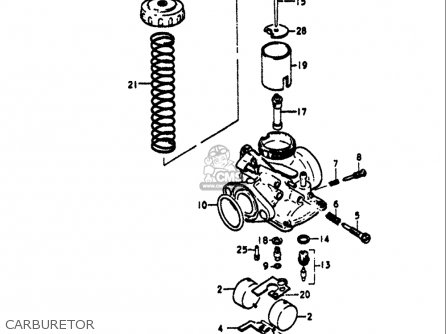 Suzuki Ts125 1971-1972 usa Carburetor