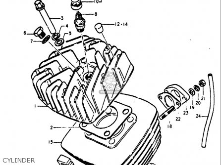 Suzuki Ts125 1971-1972 usa Cylinder