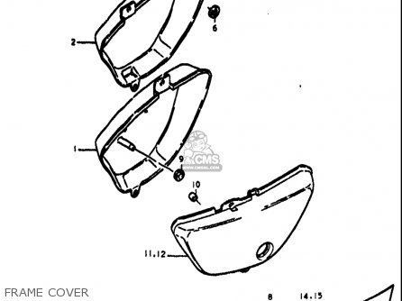 Suzuki Ts125 1971-1972 usa Frame Cover