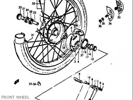 Suzuki Ts125 1971-1972 usa Front Wheel