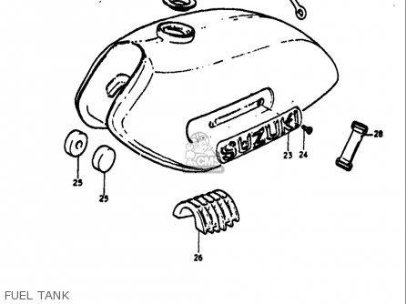 Suzuki Ts125 1971-1972 usa Fuel Tank