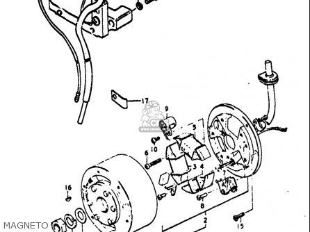 Suzuki Ts125 1971-1972 usa Magneto