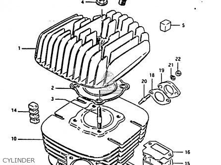 suzuki ts125 1979  n   e08 e13 e14 e24 e30 e31  parts list