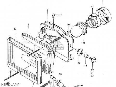 suzuki ts125r 1994  r   e02 e04 e18 e21  parts lists and suzuki vl 1500 wiring diagram