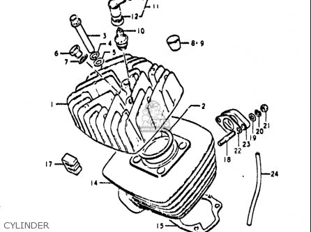 Suzuki 185 Wiring Diagram Along With Suzuki Ts 185 Parts