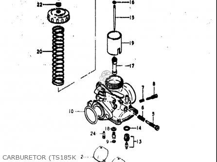 For Ninja 250 Carburetor Diagram likewise Kawasaki Bayou 300 Cylinder Head Diagram together with Honda Xl 185 Wiring Diagrams in addition Suzuki Rm 250 Engine Diagram additionally Suzuki 230 Quad Runner Atv Wiring Diagram. on suzuki 185 atv wiring