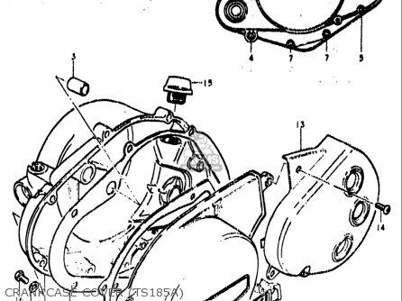 Suzuki    Ts185 19731976  usa  parts list partsmanual partsfiche