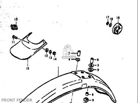 Suzuki Ts185 1977-1979 usa Front Fender