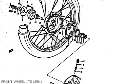 Suzuki Ts185 1977-1979 usa Front Wheel ts185n