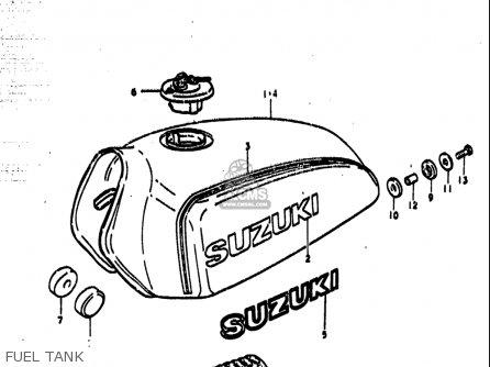 Suzuki Ts185 1977-1979 usa Fuel Tank