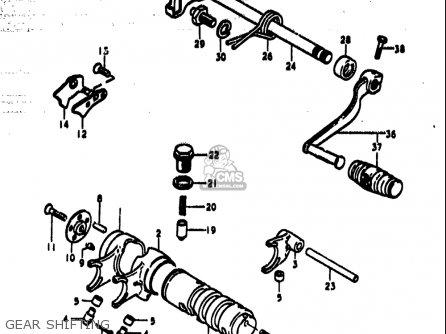Suzuki Ts185 1977-1979 usa Gear Shifting