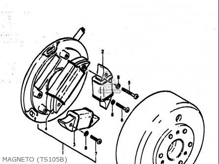 Suzuki Ts185 1977-1979 usa Magneto ts105b