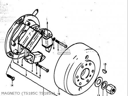 Suzuki Ts185 1977-1979 usa Magneto ts185c Ts185n