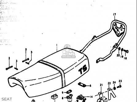Suzuki Ts185 1977-1979 usa Seat