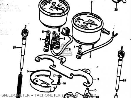 Suzuki Ts185 1977-1979 usa Speedometer - Tachometer ts185b Ts185c
