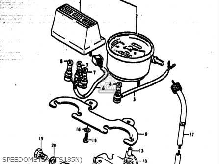 Suzuki Ts185 1977-1979 usa Speedometer ts185n