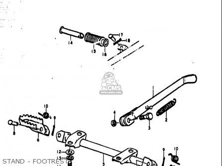 Suzuki Ts185 1977-1979 usa Stand - Footrest