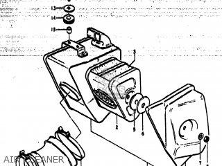 Suzuki Ts185 1977 b Usa e03 Air Cleaner