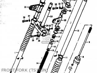Suzuki Ts185 1977 b Usa e03 Front Fork ts185n