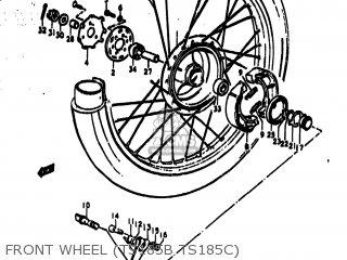 Suzuki Ts185 1977 b Usa e03 Front Wheel ts185b Ts185c