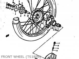 Suzuki Ts185 1977 b Usa e03 Front Wheel ts185n