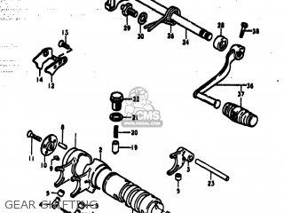Suzuki Ts185 1977 b Usa e03 Gear Shifting