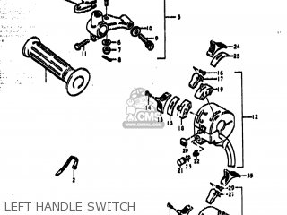 Suzuki Ts185 1977 b Usa e03 Left Handle Switch
