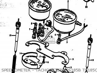 Suzuki Ts185 1977 b Usa e03 Speedometer - Tachometer ts185b Ts185c