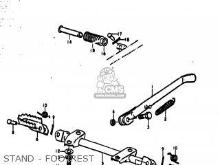 Suzuki Ts185 1977 b Usa e03 Stand - Footrest