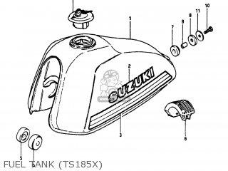 suzuki ts185 1981  x  usa  e03  parts lists and schematics