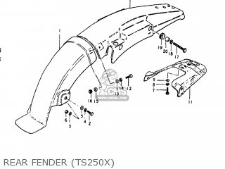 suzuki ts250 1980  t  usa  e03  parts list partsmanual