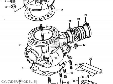 suzuki ts250x 1987  h   e01 e02 e15 e16 e17 e21 e22 e24 suzuki ozark 250 parts diagram